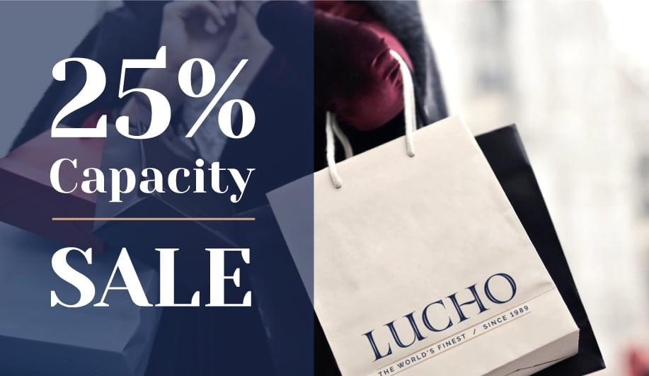 25% Capacity Sale