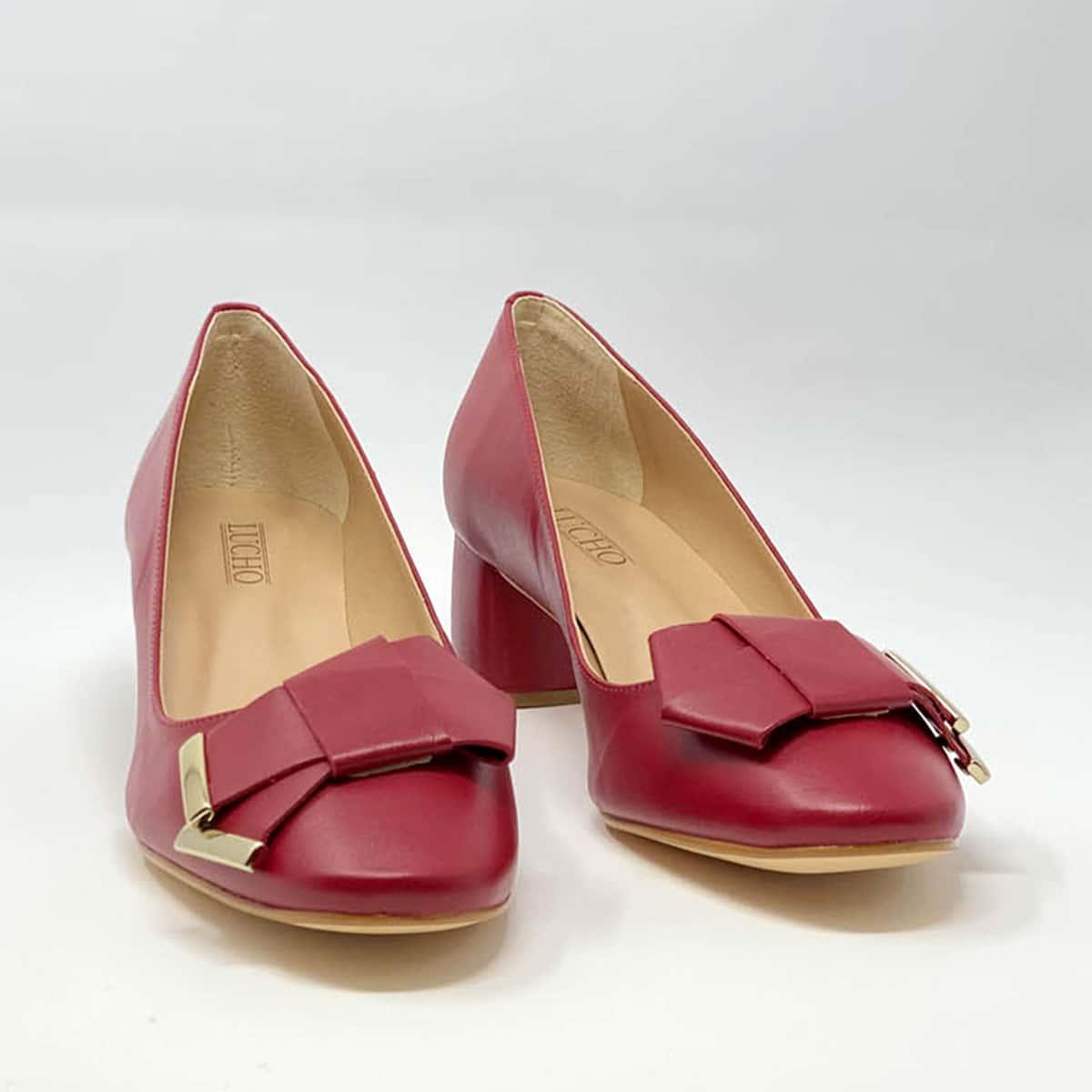 Red Napa Round Heel