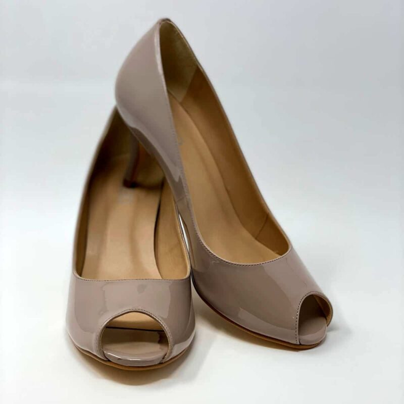 Nude Kitten Heel Open Toe Pump