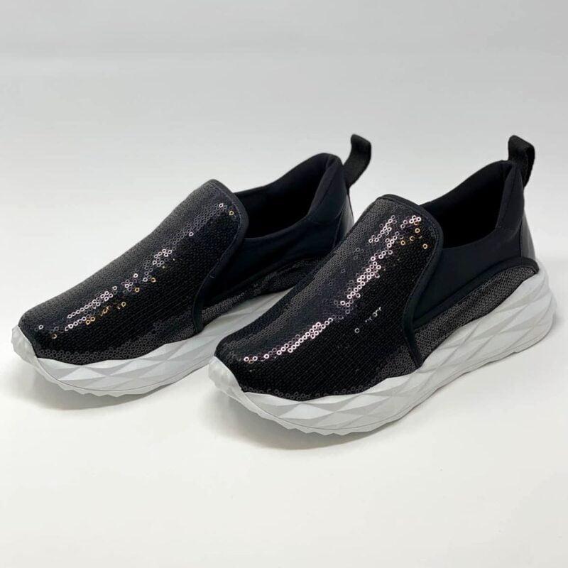 Black Sequin Sneaker