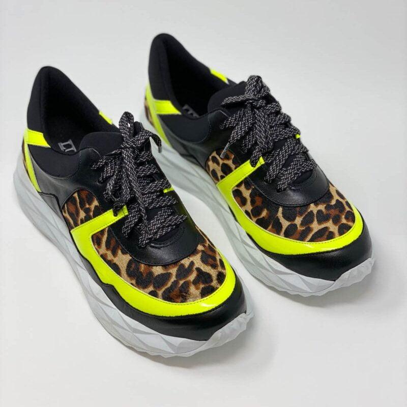 Leopard Lime Neon Sneaker