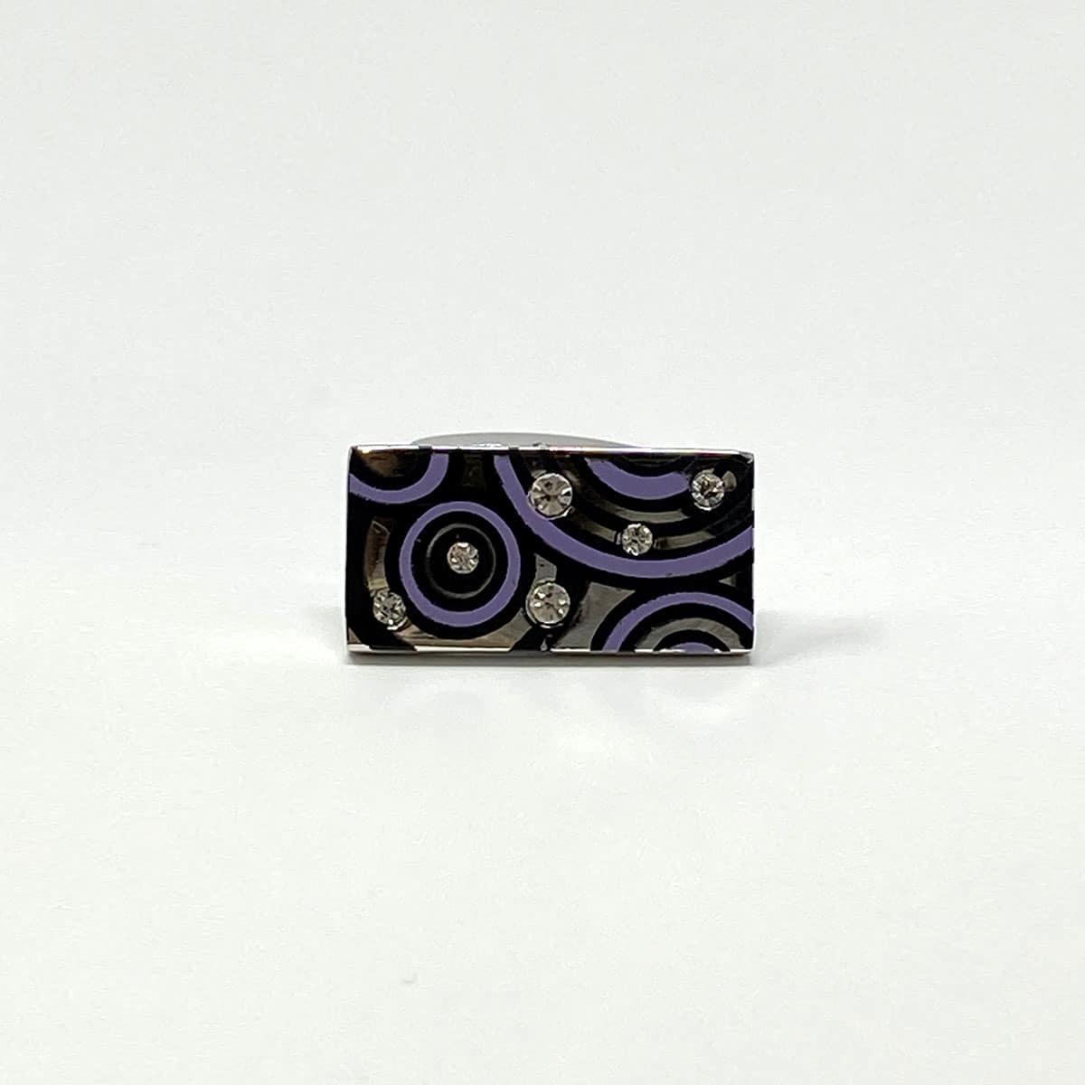 Purple Circles Cufflinks