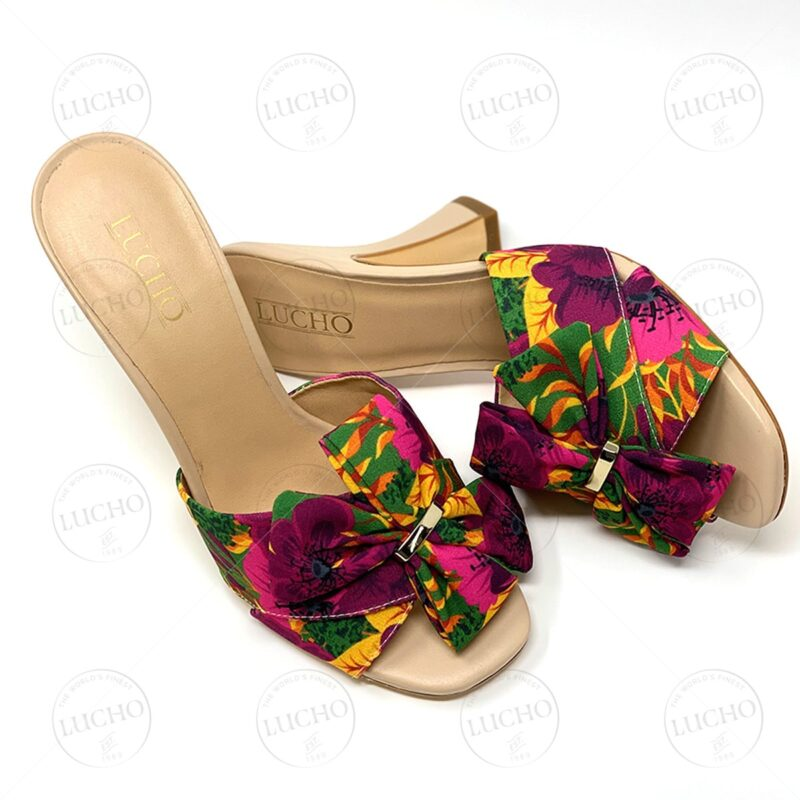 Floral Fabric Open Toe Clog Sandal LUCHO
